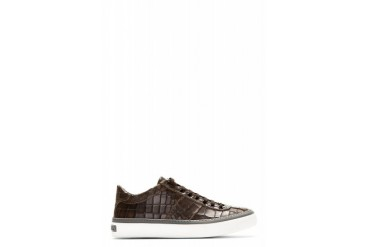 Jimmy Choo Brown Croc embossed Portman Sneakers