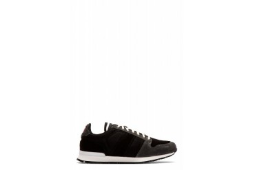 Ami Alexandre Mattiussi Black Suede And Nylon Sneakers