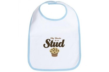 MY Uncle is Stud Muffin Baby Infant Bib