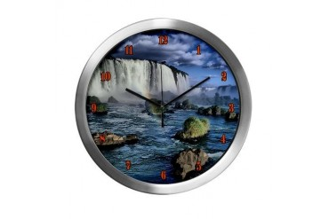 Iguasu falls Travel Modern Wall Clock by CafePress