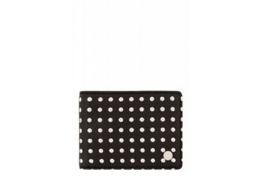 Marc By Marc Jacobs Black Heavy Metals Bifold Wallet