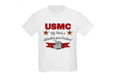 USMC Uncle Defending Freedom Kids T-Shirt