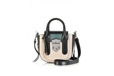 Lou Leather Crossbody Satchel