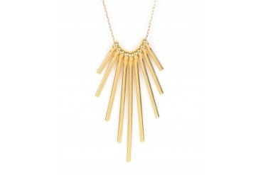 Vanessa Mooney 'Delilah' Tapered Spike Necklace Gold