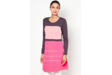 Zariya Hatin Color Block Muslimah Blouse