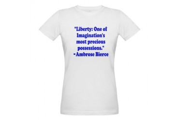 BierceLibertyBlue Quotes Organic Women's T-Shirt by CafePress