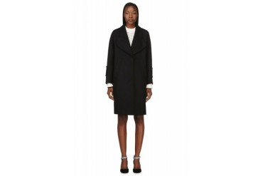 Carven Black Compact Wool Coat