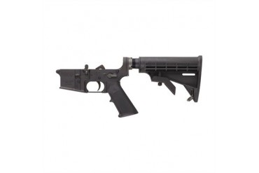 Complete A2-Style Lower Receiver W/Fixed Rifle Buttstock - Complete M4-Style Lower Receiver W/Adjustable Buttstock