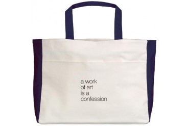 A work of Art is a Confession Art Beach Tote by CafePress