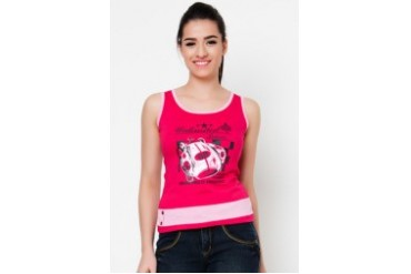 Ladies Tank Top with Combi and Print