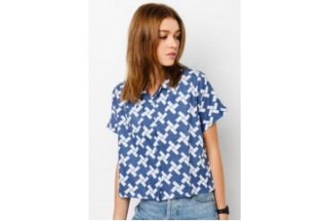 Pestle & Mortar Ladies Windmill Cropped Shirt