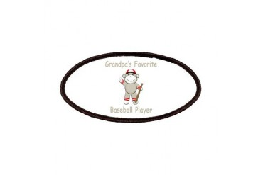 Grandpa's Baseball Monkey Family Patches by CafePress