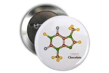 Chocolate Molecule Button Internet 2.25 Button by CafePress