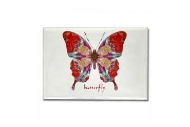Attraction Butterfly Cool Rectangle Magnet by CafePress