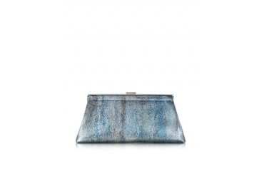 Metallic Leather Jil Clutch