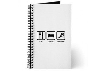 Eat Sleep Slalom Funny Journal by CafePress