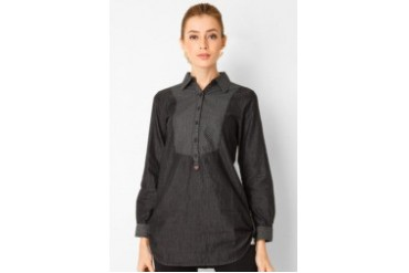 Triset Long Sleeve With Collar Blouse