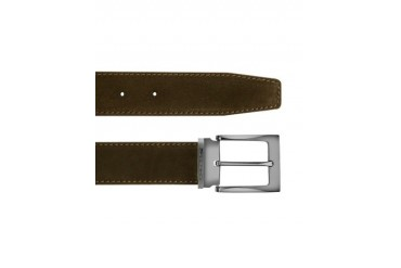 Dallas - Dark Brown Suede Leather Belt