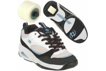 Girls Heelys Spree Rollershoe (White/Black/Blue)
