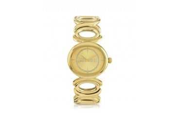 Double Jc 2H Champagne Dial Gold Stainless Steel Women's Watch
