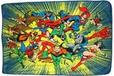DC Comics Hero Burst Fleece Throw Blanket