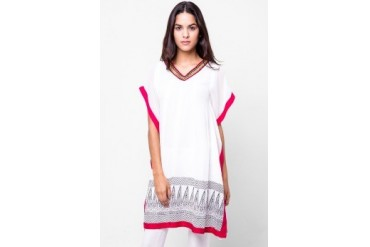 Chanira Long Blouse Kaftan Mix Pink Colour Print