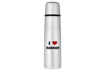 RHINOS.png Large Thermos Bottle Funny Large Thermosreg; Bottle by CafePress