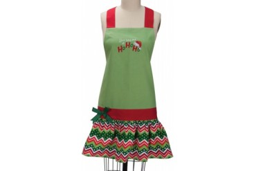 You Had Me At Ho Ho Ho Embroidered Holiday Girlie Kitchen Apron