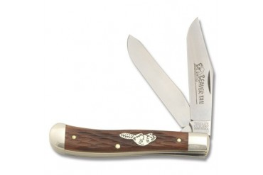 TidiouteBeavertail Western Trapper with Jigged Babinga Wood Handle