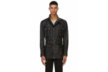 Belstaff Black Waved Roadmaster Coat