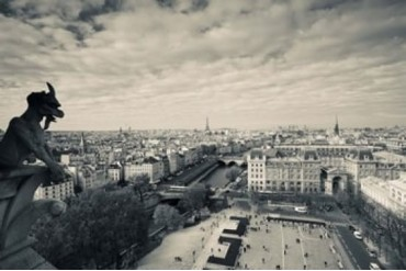 City viewed from the Notre Dame Cathedral, Paris, Ile-de-France,