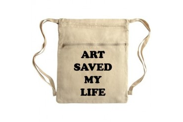 ART SAVED2.png Sack Pack Cool Cinch Sack by CafePress