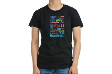 Handball Occupation Women's Fitted T-Shirt dark by CafePress