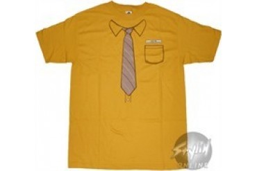 Office Yellow Shirt and Tie T-Shirt