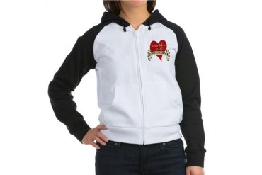 Hearts Women's Raglan Hoodie by CafePress