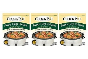 Crock Pot Savory Herb Chicken Seasoning Mix 3 Packet Pack
