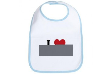 I Love le Study Religion Bib by CafePress