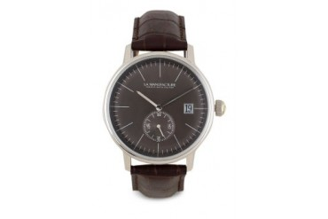 La Manufacture Classic Black MX5305ZH Watch with Brown Leather Strap