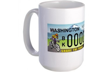 Share the Road Sports Large Mug by CafePress