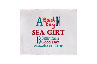 Sea Girt Stadium Blanket Jersey shore Throw Blanket by CafePress