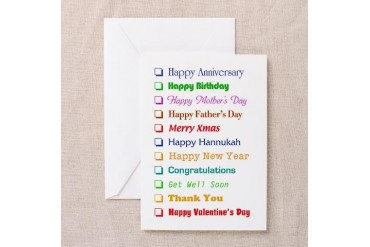 The All-In-One Greeting Card Pk of 10 Humor Greeting Cards Pk of 10 by CafePress