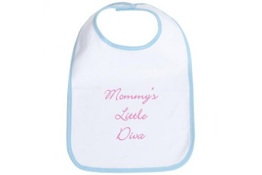 Mommy's Little Diva Cute Bib by CafePress