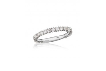 0.74 ct Diamond 18K Gold Eternity Band