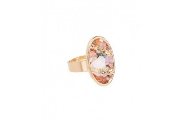 Crushed Stone Oval Statement Ring