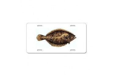 Flounder Fishing Aluminum License Plate by CafePress