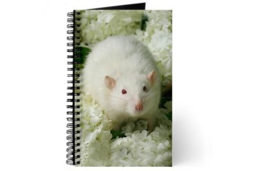 Knightley White Flowers Pets Journal by CafePress