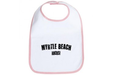 Myrtle Beach Rocks South carolina Bib by CafePress