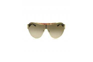 Marotiri 720S 28F Gold Havana Brown Shield Sunglasses