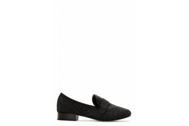 Repetto Black Shimmering Michael Penny Loafers