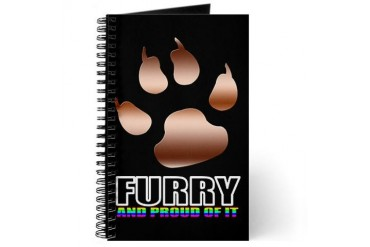 Furry Pride Journal by CafePress